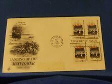Scott #1420 6 Cent Plate Block Stamps Honoring The Landing Of The Mayflower...