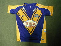 Leeds Rhinos Large Mens Fitted Rugby League Shirt