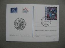 UNITED NATIONS VIENNA, ill. prestamped PC CTO 2001, WIPA , art Hundertwasser