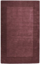 Surya Plum 8 x 11 Hand Knotted Wool Border Casual Area Rug - Approx 8' x 11'