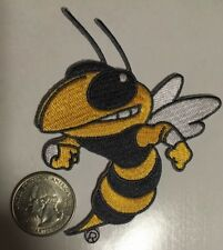 "Georgia Tech patch yellow jackets bee patch iron on or sew on 3"" x 3.5"""