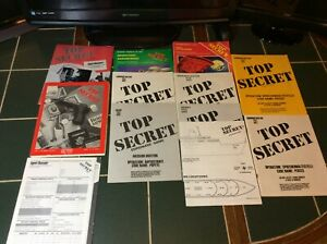 Vintage TSR Top Secret Role Playing Game RPG Espionage & Modules Rapidstrike ++