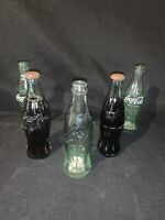 Lot of5 Vintage 6 1/2 Oz Coke Coca Cola Green Glass Bottles Clear Albany Douglas