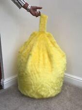 Solo COPERTINA Chidrens 3 ft³ (ca. 84.95 L) Taglia Bean Bag in finta pelliccia Lussuosa Giallo Nuovo