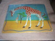 Vtg 1960 Whitman Giraffe Tray Puzzle Complete Flaw Animal Kids