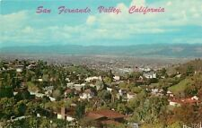 Hollywood California~San Ferando Valley From Hill~Homes~1958 Postcard