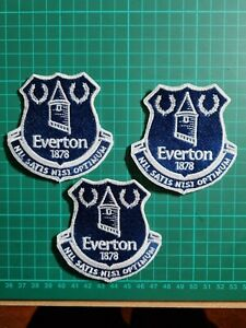 EVERTON football team logo badge Sew On Embroidered Patch