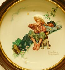 """Norman Rockwell """"Spring Day Dreamers"""" 1974 Limited Edition Wall Plate Framed Usa"""