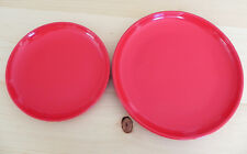 "Stax Living Set2  8.25""Salad/10.5""Dinner Plates Red Oven/Microwave/Freezer safe"