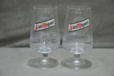 Pair Of (2) San Miguel Chalice Pint To Brim Toughened Glass Goblet 20oz New M16