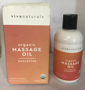 VIVA NATURALS USDA ORGANIC MASSAGE OIL RELAXATION Unscented Coconut Oil 8oz