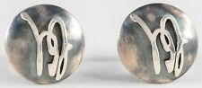 Sterling Silver Cufflinks  Arts and Crafts Design 13g