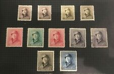 RARE SET OF 11 BELGIUM SOLDIER 1914-1918 WW1 STAMPS (OCCUPIED BY GERMANY)