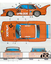 1/24 BMW 320i UNILOCK G. VILLENEUVE #23 MOSPORT 6Hrs 1977 DECAL for TAMIYA