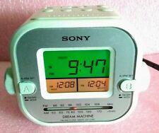Sony Dream Machine dual alarm clock radio AM/FM ICF-C180 excellent working cond
