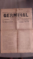 1914 JOURNAL DU PEUPLE GERMINAL N°372 DU 14 AU 20 MARS A AMIENS 2 PAGES/ ABE