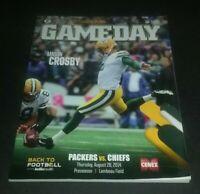 August 28 2014 Green Bay Packers vs Chiefs Gameday Preseason Football Program
