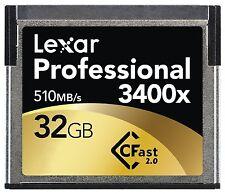 Lexar 3400x 32GB CFast 2.0 Memory Card SSD For URSA Amira XC10 C300 MARKII 1DX2