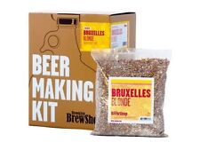 Brooklyn Brew Home Beer Making Kit Grain Hops Yeast Fermenter (Bruxelles Blonde)