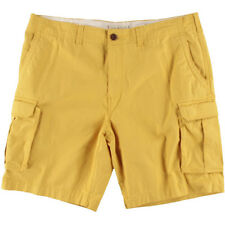 NEW Mens Tommy Hilfiger Yolk Yellow Twill Classic Fit Solid Cargo Shorts Size 40