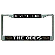 never tell me the odds star wars movie film license plate frame made in usa