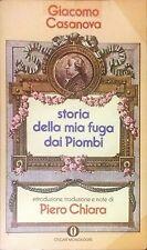 STORIA DELLA MIA FUGA DAI PIOMBI -  GIACOMO CASANOVA - MONDADORI, 1976