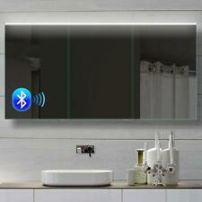 Alu Badezimmer Spiegelschrank LED Und Bluetooth Lautsprecher 142x70cm  BHC142H70