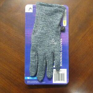 HEAD Ultrafit Women's Touchscreen Running Gloves Size Small ~Grey~NEW~