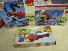 LEGO DUPLO Set 2940 2920 2626 Feuerwehr Bagger Auto mit Boot OVP 80er Jahre