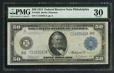 FR1034 1914 $50 FRN PHILADELPHIA BURKE / HOUSTON PMG VF 30 HW3788