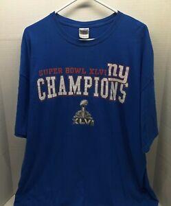 Vintage 2011 New York Giants Super Bowl XLVI NFL Champions TShirt - Adult  2XL