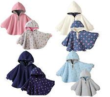 Baby Kids Toddler Double-side Wear Hooded Cape Cloak Poncho Coat Hoodie Outwear