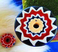 Star Chevron bead native Southwest artizan hand made clay   divp