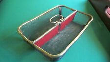 Antique English Steel Mesh with Brass Utensil Tray - Very Unique