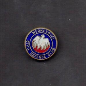 WW2 - Wednesbury Civil Defence Club Enamel Lapel Badge