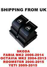 ELECTRIC WINDOW DOUBLE SWITCH BUTTONS SKODA FABIA MK2 OCTAVIA MK2 ROOMSTER YETI