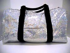 Duffle Bag Sequin Iridescent Bling Luggage Women Girls Cheer Gym Sport Travel