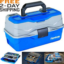 Heavy-Duty Classic Tackle Box 2 Tray Storage For Fishing, Medical Kit And More