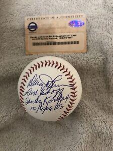 Davey Johnson Signed Last Hit Off Sandy Koufax OML Baseball MLB Steiner COA