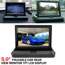 """5.0"""" Foldable Car Rear View Monitor TFT LCD Display Screen for Reverse Camera"""