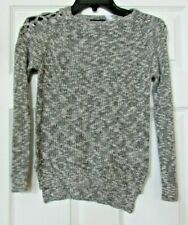 NWT Girls The childrens place gray long sleeve sweater 7/8