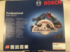 Bosch Akku-Kreissäge GKS 18 V-LI, +2x4Ah Akku und Schnellladeger und Sägeblatt