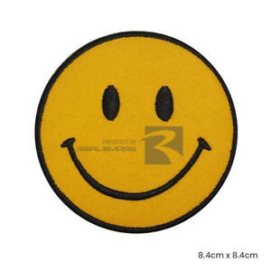 Smile Face Emoji Iron On/ Sew On Embroidered Patch Badge For Clothes etc
