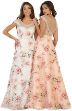 SALE ! FORMAL PROM EVENING FLORAL GOWN SPECIAL OCCASION PARTY DRESSES UNDER $100