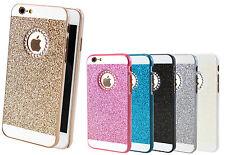 Handy Hülle Schutz Tasche Glitzer Strass iPhone 4 5 6 7 Case Bumper Back Cover