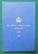 Rare Queen Victoria's Programme for Her Diamond Jubilee 1897 Given to Guests