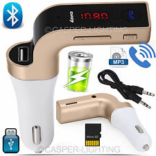 Wireless Bluetooth Auto Kit trasmettitore FM MP3 USB LCD VIVAVOCE PER CELLULARE