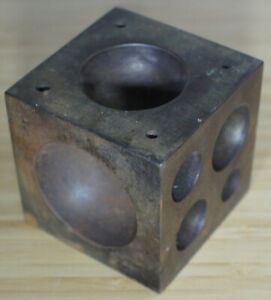"""2.5"""" Steel Dapping Doming Block Jewelers Jewelry Tool Casting Cube Shaping Mold"""