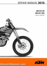 2010 KTM 450 SX-F Repair Manual Paper