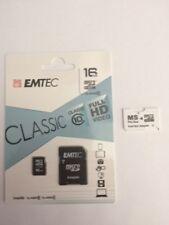 16 GB MicroSD Emtec Classic Class 10 HD plus Dual ProDuo Adapter für Sony PSP